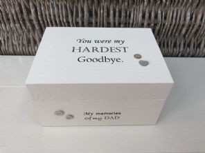 Personalised In Memory Of Box Loved One ~ DAD ~ FATHER any Name Bereavement Loss - 253571929564